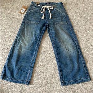 Polo Ralph Lauren Denim Wide Crop Jean Rope Belt